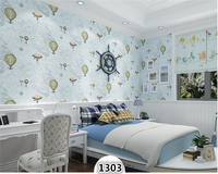 beibehang Fashion High School Decorative Paintings Kids Room Boy 3d Wallpaper Sailing Map Hot Air Balloon Bedroom Wall paper