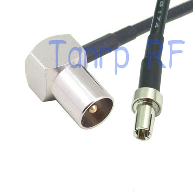RP-TNC Female to TS9 Right Angle Male Pigtail Coaxial RF TS-9 Cable RG316 4-20in
