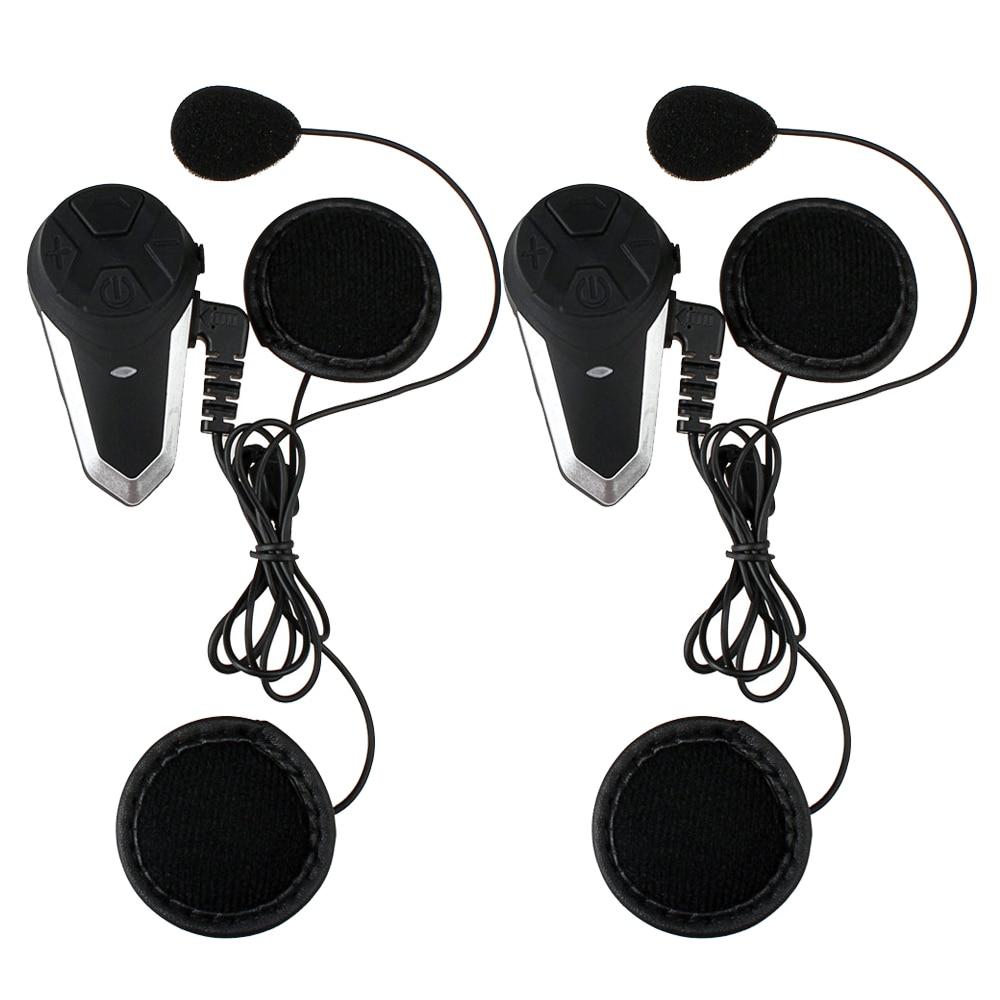 Fodsports 2 pcs BT-S3 Motorcycle Helmet Bluetooth Intercom Motorbike Helmet Headset Waterproof BT Interphone Intercomunicador FM гарнитура для шлема 2 x bluetooth climder c3 fm bt