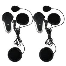 Fodsports 2 шт. BT-S3 мотоциклетный шлем Bluetooth Интерком мотоцикл Шлемы-гарнитуры Водонепроницаемый BT переговорные Intercomunicador FM
