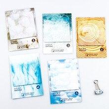 4 цвета цвет природы Самоклеящиеся memo pad клейкие стикеры для заметок It Закладка Блокнот Школа Офис поставка Papelaria Escolar