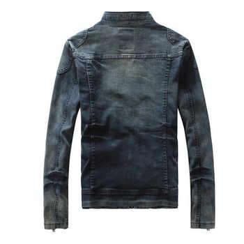 New Retro Classics Denim Jacket Spring Autumn Men Vintage Casual Slim Jackets Men\'s Coat Jeans Jackets Plus Size A1728