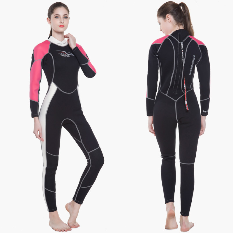 KEEP DIVING Women 3MM Neoprene One-Piece Scuba Dive Wet Suit Wetsuit Swim Surfing Snorkeling Spearfishing swimming suit women women 1 5mm neoprene professional heated wetsuit vest one piece sleeveless swimming diving vest surfing snorkeling wetsuit