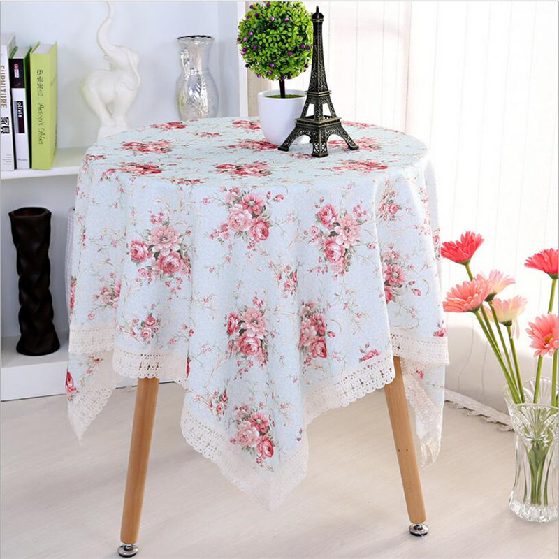 WIT 90*90cm Lace Table Cloth 35.43x35.43inch Florals Tablecloths  Refrigerator TV PC
