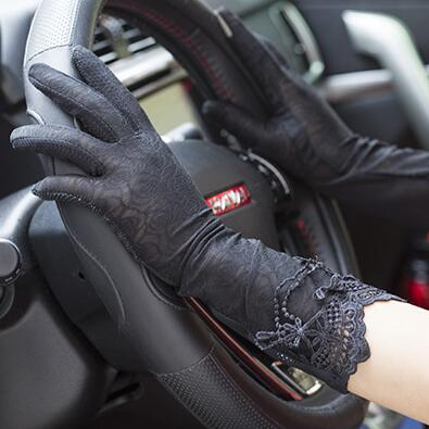 Spring And Summer Women's Sunscreen Long Gloves Female Medium-long Sexy Lace Gloves Lady's Long Driving Gloves R1899