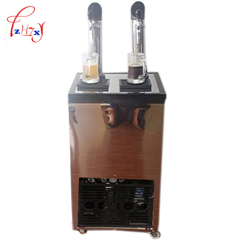 Commercial Beer Machine Ice Core Beverage Dispense double-headed ice beer Drink Machine beer dispenser machine 1pc edtid new high quality small commercial ice machine household ice machine tea milk shop
