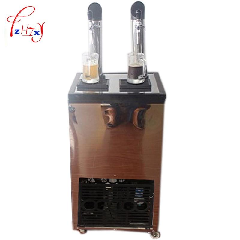 Commercial Beer Machine Ice Core Beverage Dispense Double-headed Ice Beer Drink Machine Beer Dispenser Machine 1pc