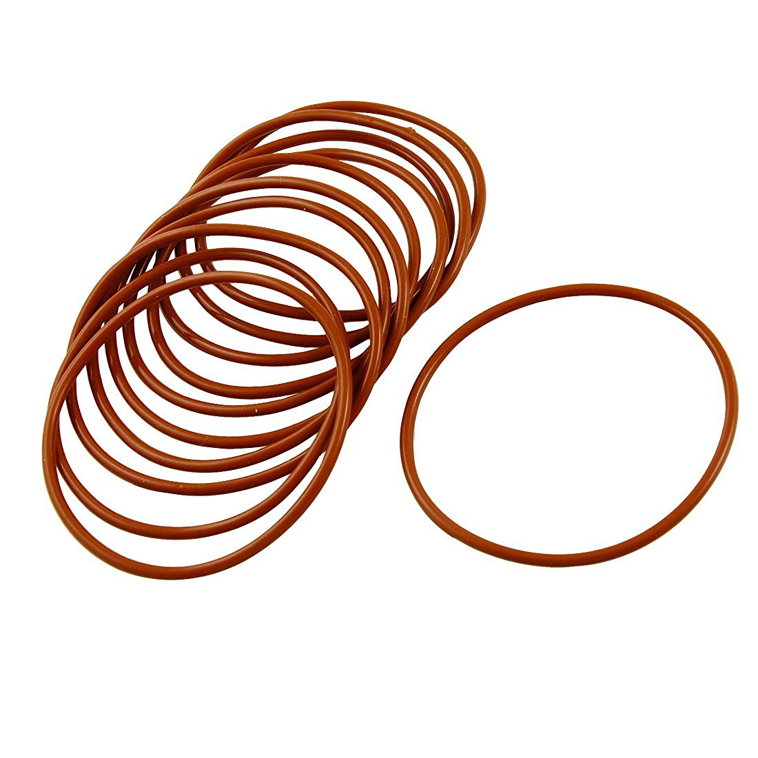 10 Pcs Industrial Silicone O Ring Seal 55mm x 60mm x 2.5mm цена