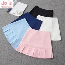 2019 de alta cintura falda Lolita vestido de mujer Oficina Faldas niñas  Harajuku faldas marinero Mini 19491db98bb2