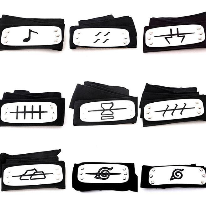 1Pcs/set Cool Naruto Forehead Fashionable Guard Headband Cartoon Cosplay Accessories for kits girls naruto headband
