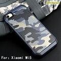 Padrão de camuflagem do exército do camo caso para xiaomi mi 5 armadura à prova de choque duro pc + capa de silicone macio para xiaomi mi5 Shell