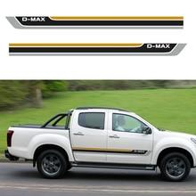 цена на d-max stripe side door graphic Vinyl racing car sticker for  isuzu d-max 2012 CABINE CREW 4X4 2017 XRUNER PICKUP accessories