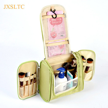 Travel Portable Cosmetic Bag 6 Color hang Hook Folding Wash Make-up Organizer Neceser makeup pouch for Women Beauty Toilet Bag