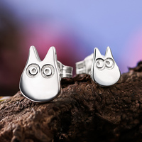 1 Pair Korean Neighbour Stud Totoro Earrings Jewelry Cute Animal Ear Stud Piercing Earrings Brincos Bijoux