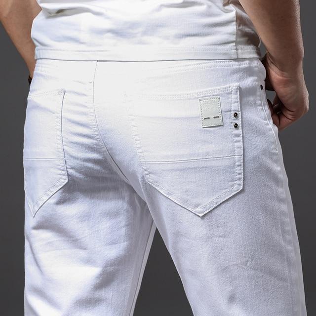 White Fashion Stretch Jeans 4