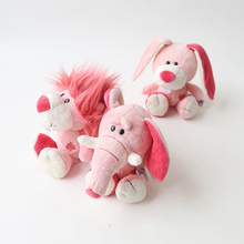 цена kids 1pc 25cm pink NICI elephant rabbit lion plush toy stuffed soft cute animal toys cartoon appease toys for children gift онлайн в 2017 году