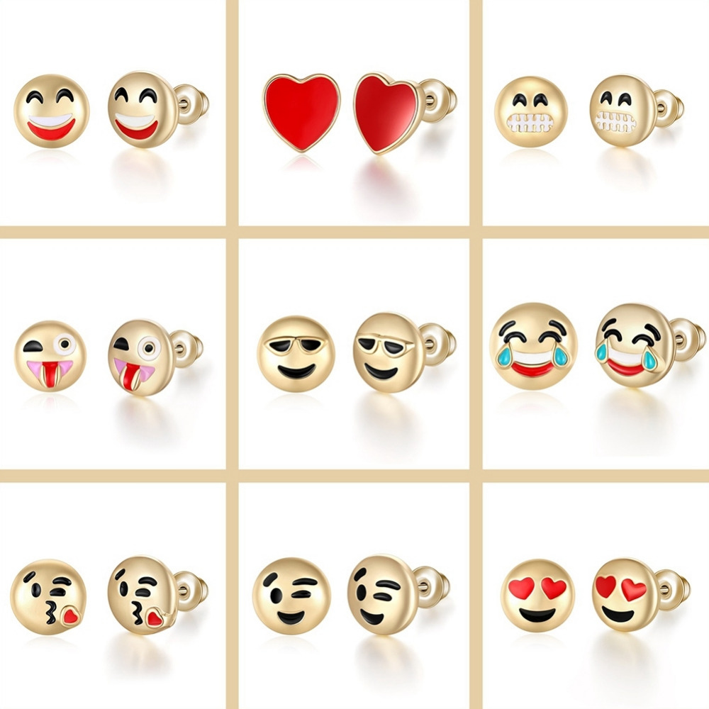 list s charming popcorn pin charlie emoji stud gift earrings andrea