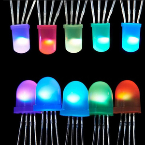 Best Price 2~1000Pcs IC APA106 F8 8mm / F5 5mm Round RGB Full Color Neo pixel Arduino Frosted led chip ( like WS2812B) 5V