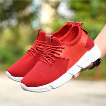 YeddaMavis Casual Sneakers Shoes 2019 Spring Autumn New Mesh Breathable Shallow A Small Red Air Female