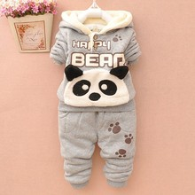 Hot Sale  Baby Boy And Girl Clothes Winter TWO PIECES THICKNESS Set Clothing