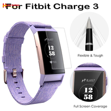 Scratch-proof Anti-drop Explosion-proof Membrane Glass Screen Protector TPU Film for Fitbit Band Charge 3 Wristband Bracelet 2pcs anti scratch soft tpu clear protective film guard for fitbit charge 3 charge3 smart wristband full screen protector cover