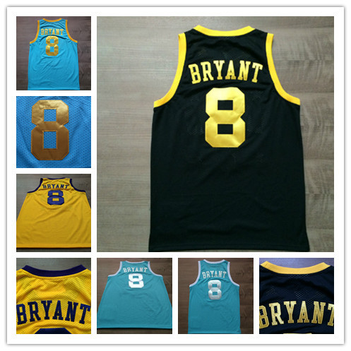8 Kobe Bryant Light Blue Throwback Jersey a7e6244d9