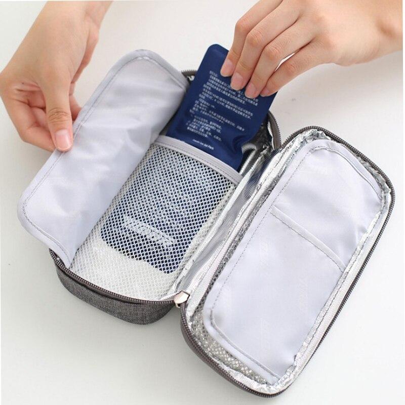 Nuovo dispositivo di raffreddamento Medico sacchetto di Droga scatola refrigerata Insulina portatile borsa termica borsa del ghiaccio per L'ambiente 1 scatola di 2 impacchi di ghiaccio