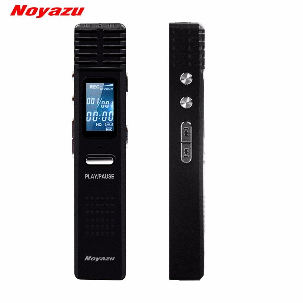 NOYAZU D'origine X1 Numérique Audio Enregistreur Vocal Enregistrement Longue Durée 8G Professionnel dictaphone Mini MP3 Lecteur gravador de voz