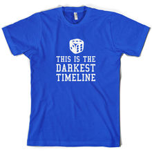 This Is The Darkest Timeline - Mens T-Shirt  Comedy - FREE   Print T Shirt Mens Short Sleeve Hot Tops Tshirt Homme the darkest child