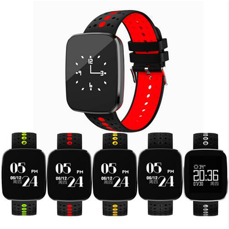 Smart Wristband Band Heart Rate Fitness Tracker Bracelet Blood Pressure Oxygen Monitor Sport Watch for Samsung Galaxy S8 Plus S7