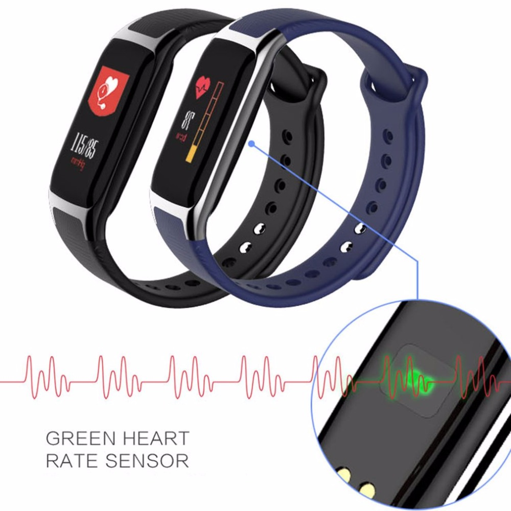 Heart Rate Blood Pressure Monitor Smart Watch Bracelet support distance target Stand-by time About 25 days