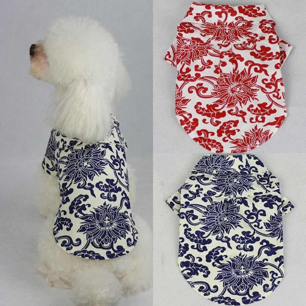 2018 New Dog Clothes Costume Fashion Dogs Floral Shirt Spring And Summer Clothing For Dog T-Shirt Costume Apparel Coat