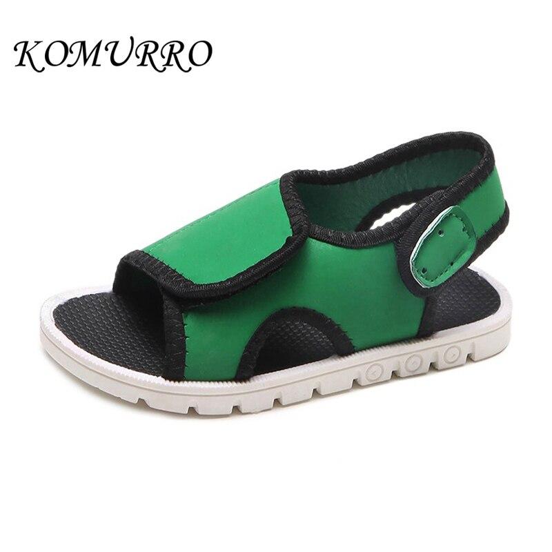 Children Boys Sandals Shoes Kids Fashion Cloth Casual Beach Shoes Sandals For Children Girls Hook & Loop Flat Kid Summer Sandals