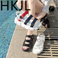 HKJL Sports sandals women 2019 new Korean version of the patchwork sponge cake bottom harajuku casual shoes summer A466