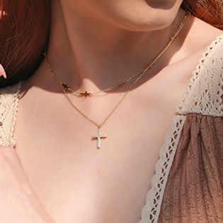 Seemulem классический крест женское ожерелье 925 серебро ювелирные изделия женские аксессуары стерлингового серебра леди крест ожерелье