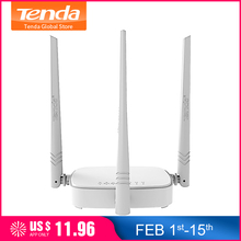 Tenda N318 300 150mbps Wireless router Wi-Fi Wi-Fi Repeater, wielu Firmware język, router/WISP/Repeater/tryb AP, 1WAN + 3LAN RJ45 porty(China)