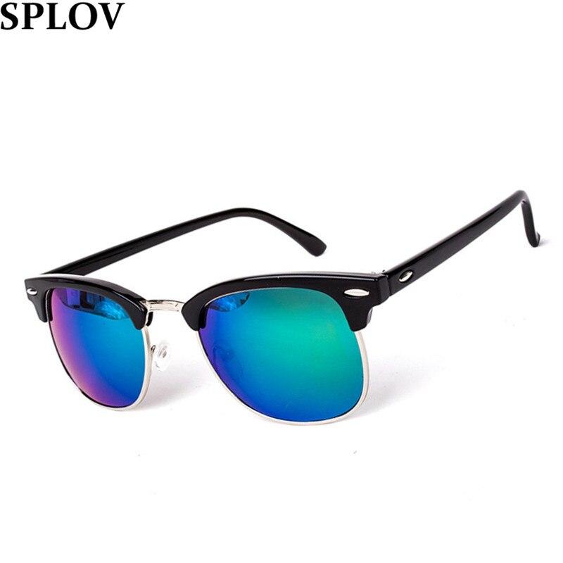 Половина металлический высокое качество очки женщин людей модной очки зеркало солнцезащитные очки мода Gafas óculos De Sol UV400 классический