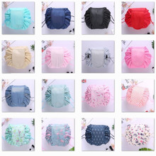 Large capacity magic pouch With patterns women cosmetic drawstring bag travel st