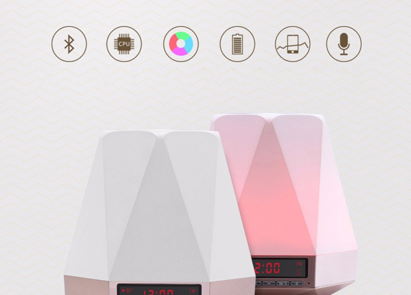 LED home furnishing atmosphere Bluetooth speaker lights 02 (2)