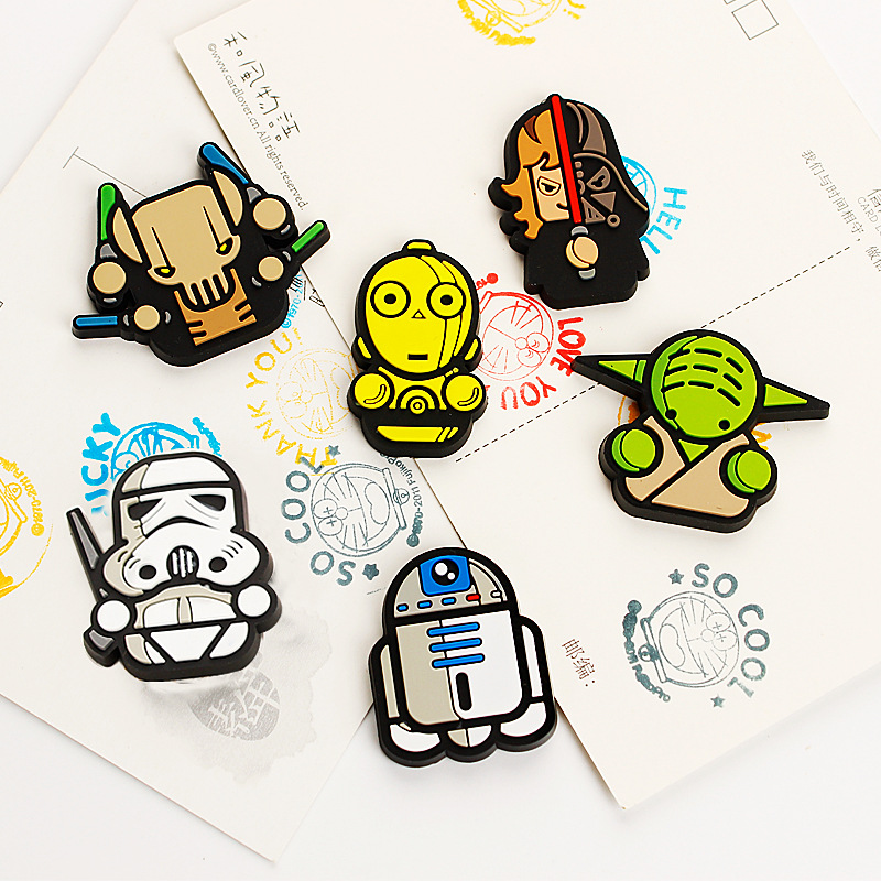 Us 0 65 40 Off Creative Cartoon Cute Star Wars Bb8 Darth Vader Yoda C 3po R2 D2 Stormtrooper Event Party Decoration Supplies Kid Diy Gift In Party