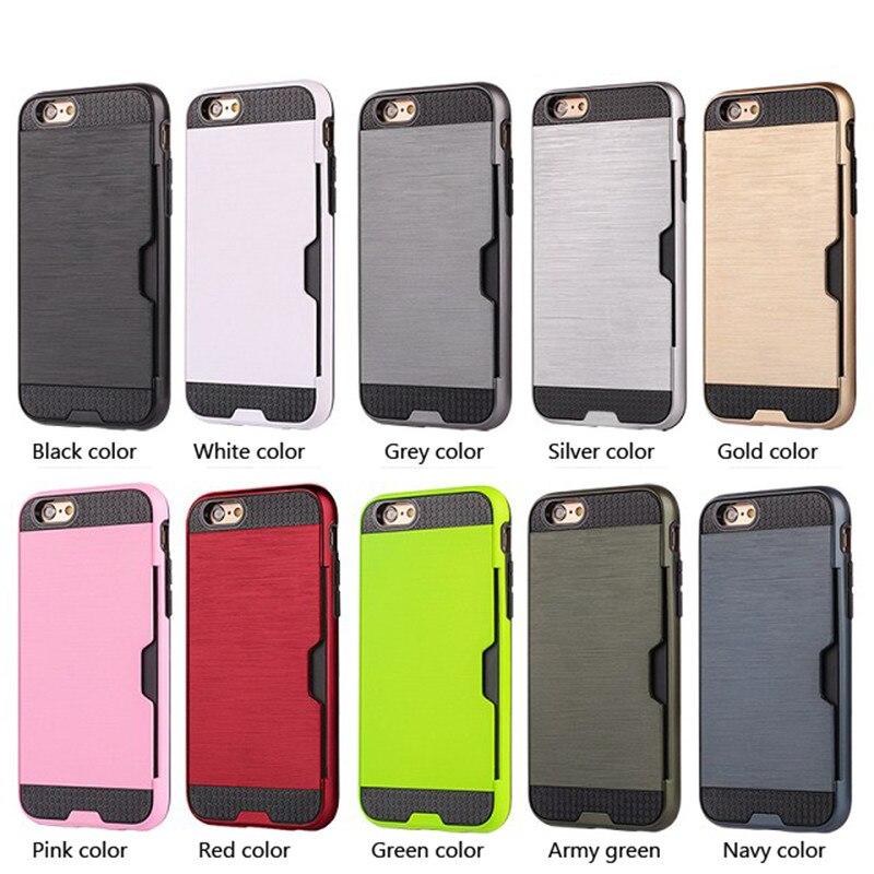 Para el caso del iphone 7 Coque de plástico de silicona metálica - Accesorios y repuestos para celulares - foto 5