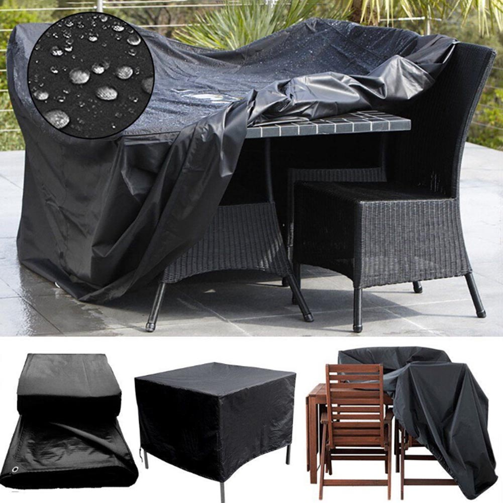 Conjunto de Muebles de Patio al aire libre Cubierta Impermeable ...