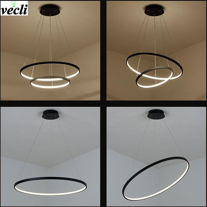 Pendant Lights Led Lamp Modern Hanglamp Aluminum Remote Control Dimming Hanging Lighting Fixture Living Room Kitchen Restaurant