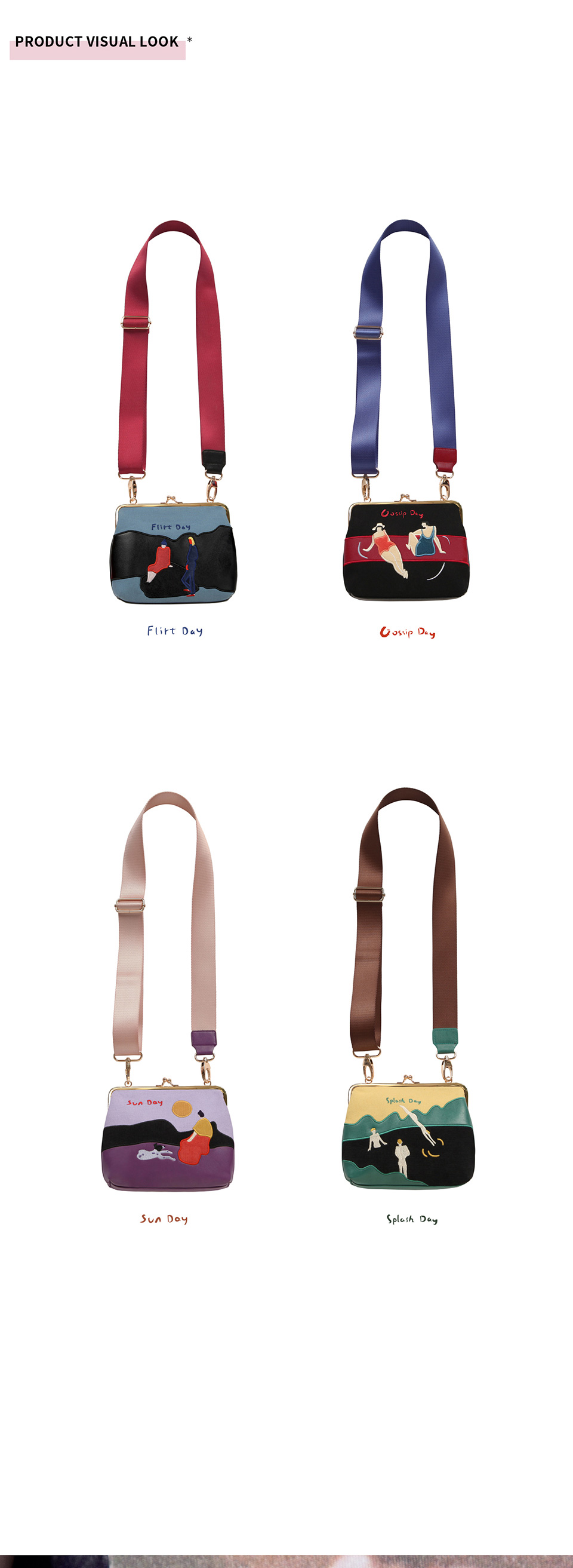 bordado retro mini mensageiro sacos para as