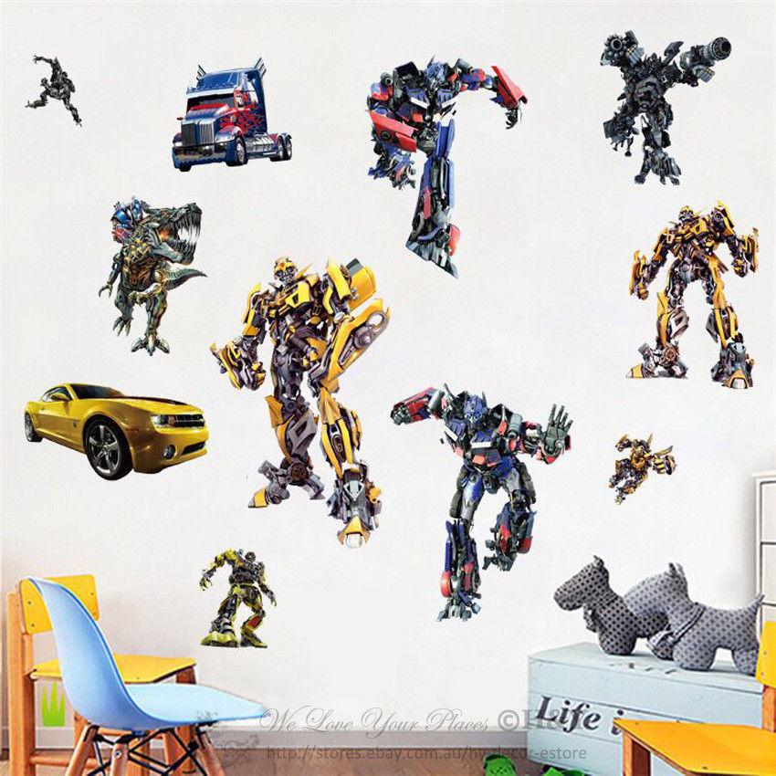 Transformation  Wall Sticker Boys Nursery Vinyl Decal Art Mural Decor Poster  D114 Free Shipping