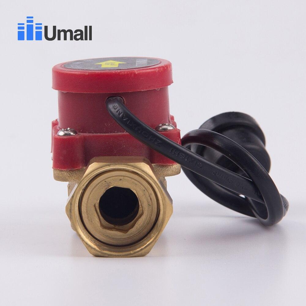 90 Вт водяной насос Датчик потока переключатель Солнечный нагреватель Латунь Автоматический усилитель давления магнитного управления клапан часть
