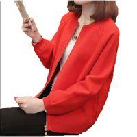 2018 new Womens Cardigan Knitted Long Sleeve Cardigan Female fashion Sweater Outerwear Loose Zipper Cardigan Sweater AC828