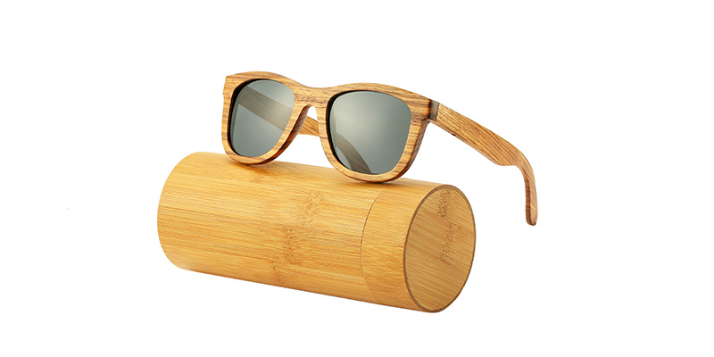 AN SWALLOW New 100% Real Zebra Wood Sunglasses Polarized Handmade Bamboo Mens Sunglass Sun glasses Men Gafas Oculos De Sol Mader 8
