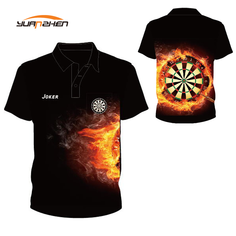 Design Your Own Quick Dry Polyester Printing Darts Shirt