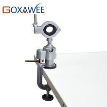 GOXAWEE Mini herramientas rotativas de perforación, soporte de vicio de mesa, abrazadera de mesa de Banco de aleación de aluminio para herramientas de taladro Dremel